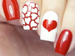 Happy Valentines Day Nails to Win His Heart