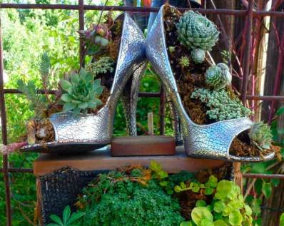 Old High Heels Planter