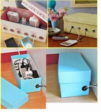 Shoebox for power cords