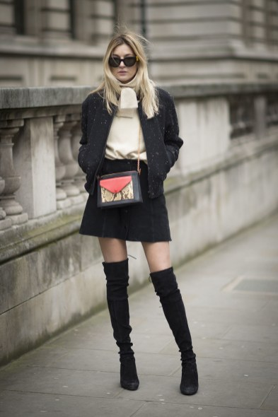 dcaf30dd9bc 15 Outfits Ideas To Match Perfectly With Your Thigh-High Boots ...