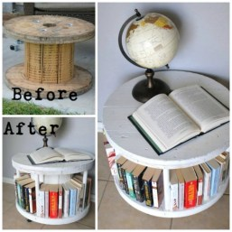 Wooden Spindle Bookshelf from Old Furniture