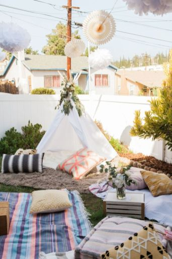 Celebrating Baby with a Bohemian Picnic Party