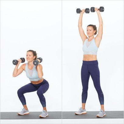 Dumbbell Squat Press