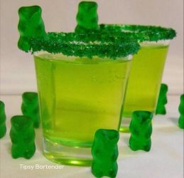 Green Gummy Bear Shots