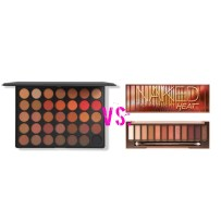 Morphe 3502 Second Nature Eyeshadow Palette vs. Urban Decay Naked Heat
