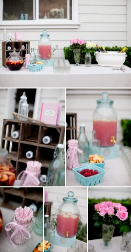 Pretty Pink & Aqua Backyard Baby Shower