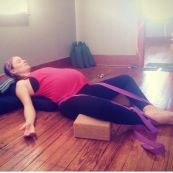 Reclinging Bound Angle Pose