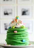 St. Patrick's Day Lucky Pancakes Breakfast for Kids