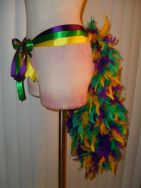 Tail Bustle Tutu - A Burlesque Tie Ribbon Mardi Gras