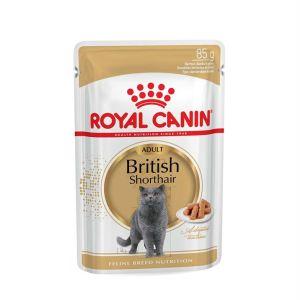 Влажный корм для Британских короткошерстных кошек Royal Canin BRITISH SHORTHAIR ADULT в соусе