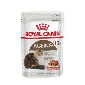 Влажный корм для кошек старше 12 лет Royal Canin AGEING+12 WET в соусе