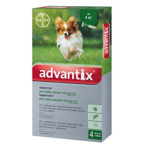 Адвантикс капли от блох и клещей для собак (до 4 кг) Bayer Advantix