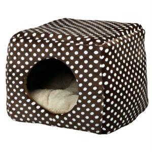 """Домик-трансформер для собак """"Mina"""" Trixie коричневый/бежевый плюш 40х32х40 см."""