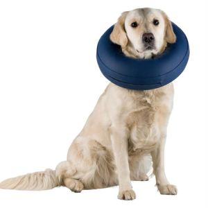 Защитный воротник для собак Trixie надувной, синий
