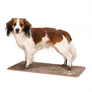 Коврик грязепоглощающий для собак с лапками Trixie коричневый 70х50 см.