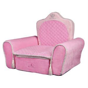 """Лежак для собак Трон """"My Princess"""" Trixie розовый плюш 55х44х40 см."""