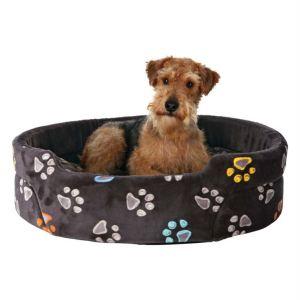 """Лежак для собак """"Jimmy"""" Trixie серый с лапками плюш"""