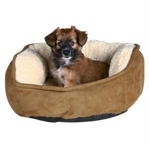 "Лежак для собак ""Otello"" Trixie бежевый/коричневый плюш"