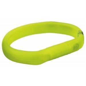 Ошейник для собак силиконовый светящийся с USB Trixie зеленый