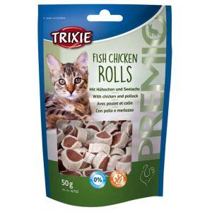"Лакомство для кошек –  ""PREMIO Rolls"" курица и минтай Trixie 50 гр."