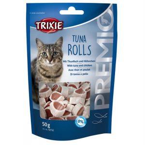 "Лакомство для кошек –  ""PREMIO Tuna Rolls"" тунец Trixie 50 гр."