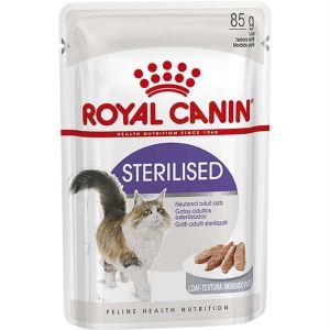 Влажный корм для стерилизованных кошек старше 1 года Royal Canin STERILISED wet in loaf паштет 85 гр.