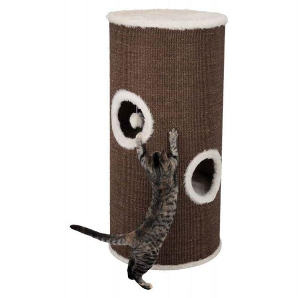 """Дряпка для кошек домик-башня """"Cat Tower Vitus"""" Trixie коричневая/кремовая 115 см."""