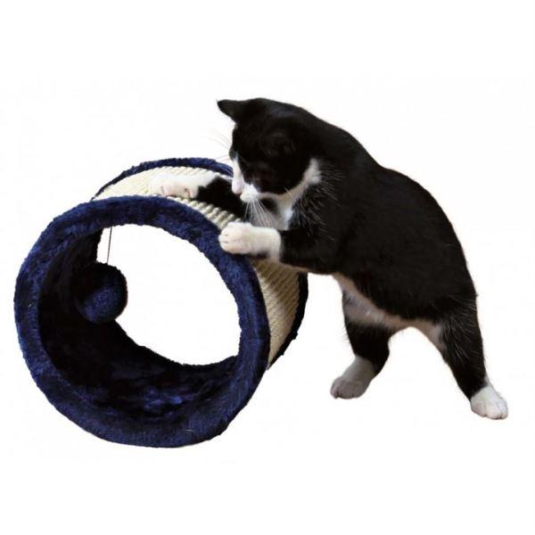 Дряпка-тоннель круглая для кошек Trixie синяя 23х20 см.