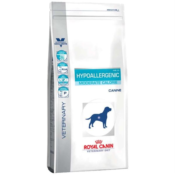 Корм для собак с пищевой аллергией или непереносимостью с умеренным количеством энергии Royal Canin HYPOALLERGENIC MODERATE CALORIE