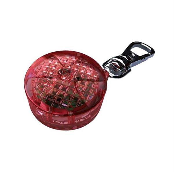 Брелок-фонарик c карабином Trixie пластик, красный 2,5 см.