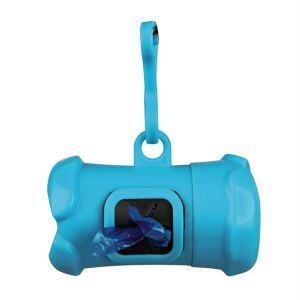 Контейнер+пакеты M 1 рулон/15 шт. для уборки фекалий собак Trixie пластик