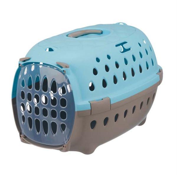 "Переноска-контейнер для собак ""Tinos"" Trixie голубая 35 x 32 x 50 см. (до 6 кг.)"