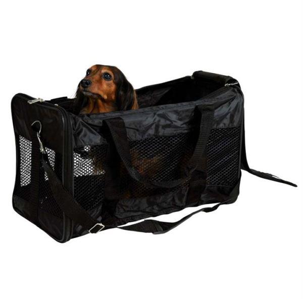 """Сумка-переноска с сеткой для собак """"Ryan"""" Trixie черная 9/12 кг."""