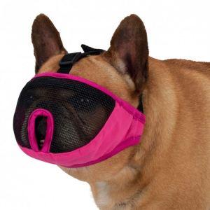 Намордник для собак (для брахицефалов) Trixie розовый, тканевый с сеткой