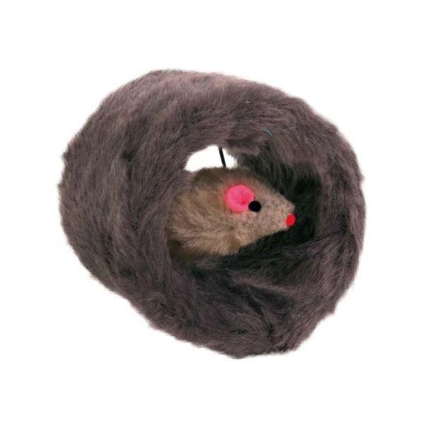 Игрушка для кошек Мышка в тоннеле Trixie плюш 8 см.