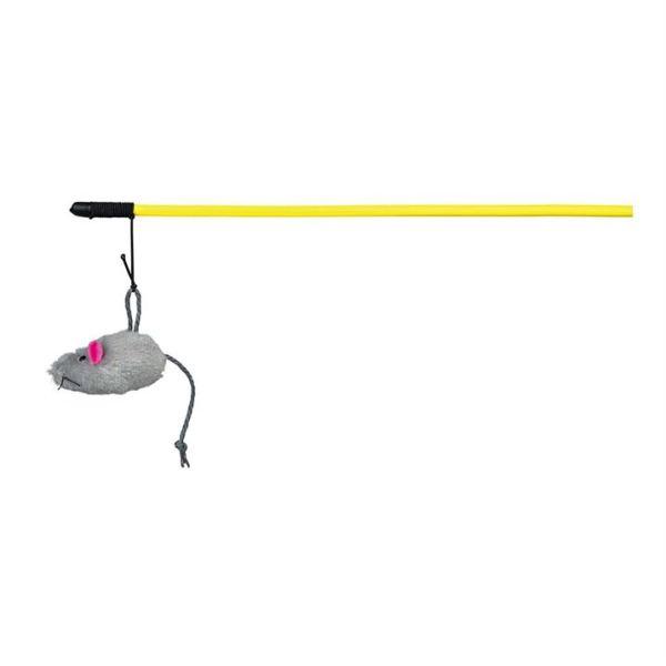 Игрушка для кошек Мышка на удочке Trixie плюш 100 см.