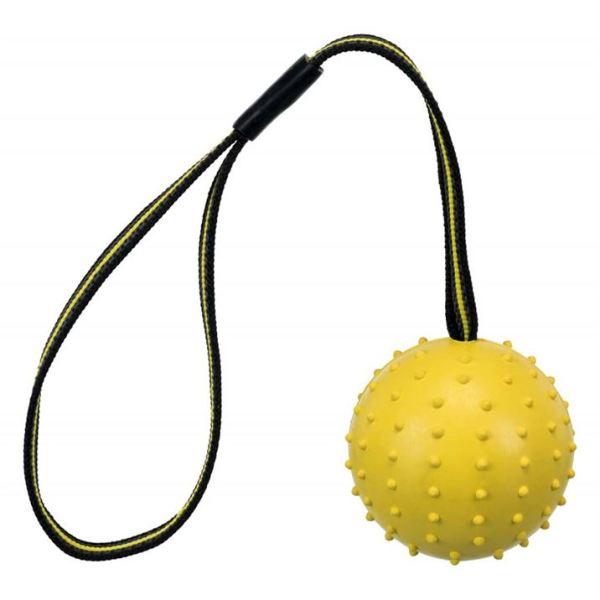 """Игрушка для собак Мяч аппортировочный """"Sporting ball"""" Trixie 6х35 см.; 7х35 см., натуральная резина, желтый"""