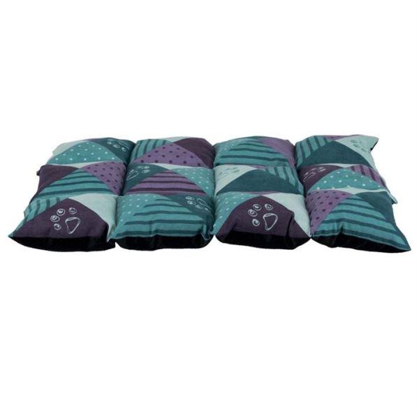 "Матрац для собак ""Patchwork"" Trixie синий/пурпурный, жаккард 70х50 см."