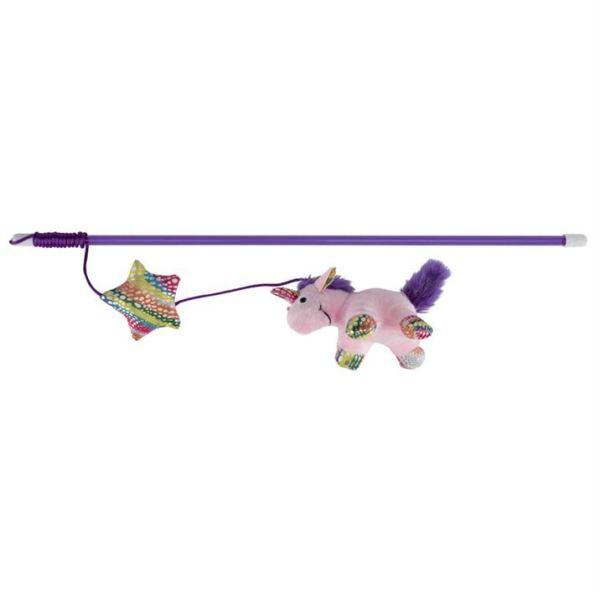 Игрушка для кошек – Палочка с единорогом Trixie 45 см. плюш