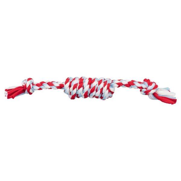 Игрушка для собак - Игровой канат с узелками Trixie хлопок 31 см.