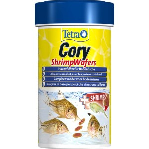 Сухой корм для аквариумных рыб в пластинах Tetra Cory Shrimp Wafers (для донных рыб) 100 мл.