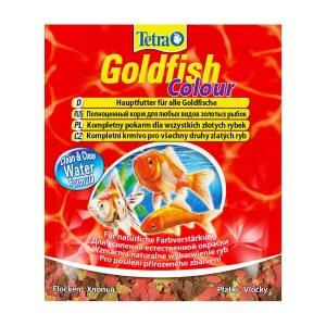 Сухой корм для аквариумных рыб в хлопьях Tetra Gold fish COLOUR (для золотых рыбок) 12 гр.
