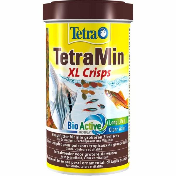 Сухой корм для аквариумных рыб в чипсах Tetra Min XL Crisps (для всех видов крупных декоративных рыб) 500 мл.