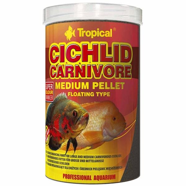 Сухой корм для аквариумных рыб в гранулах Tropical Cichlid Carnivore Medium Pellet (для плотоядных цихлид) 1 л.