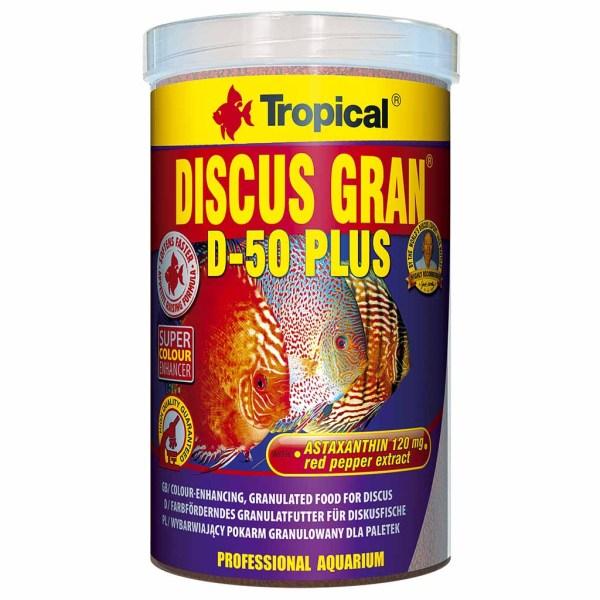 Сухой корм для аквариумных рыб в гранулах Tropical Discus Gran D-50 Plus (для дискусов) 1 л.