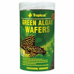 Сухой корм для аквариумных рыб в пластинках Tropical Green Algae Wafers (для травоядных донных рыб)