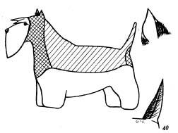 Схема и описание стрижки скотч терьера. Скотч терьер. Стрижка собак породы скотч-терьер