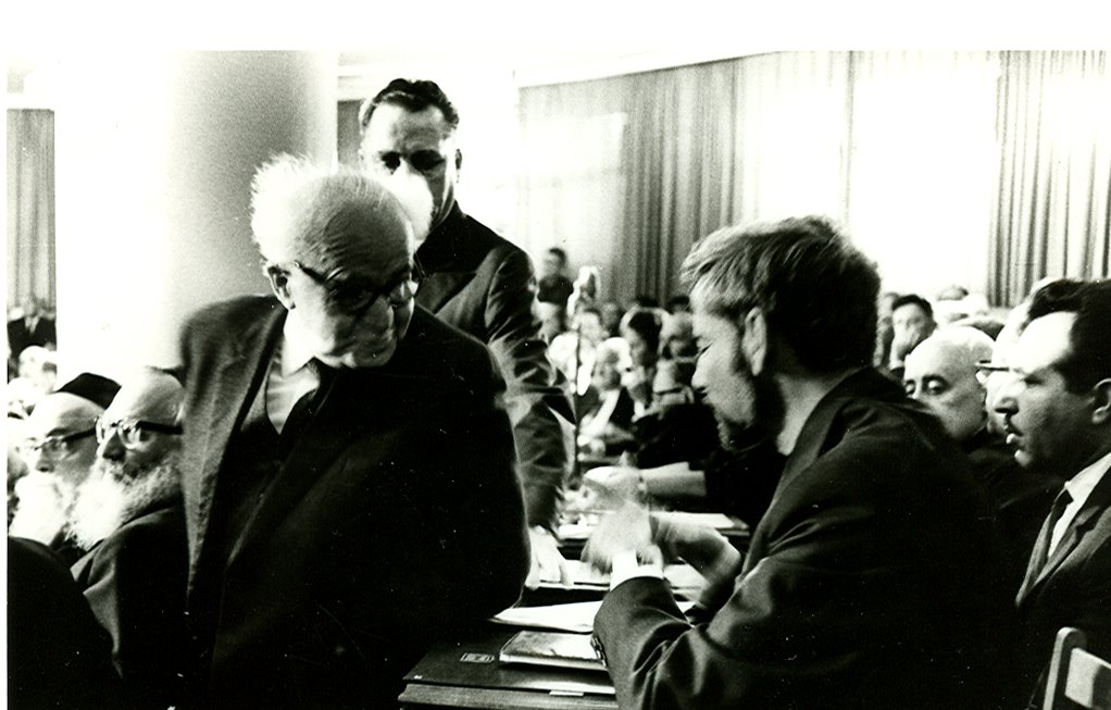 First day in the Knesset, 1967, with Ben-Gurion