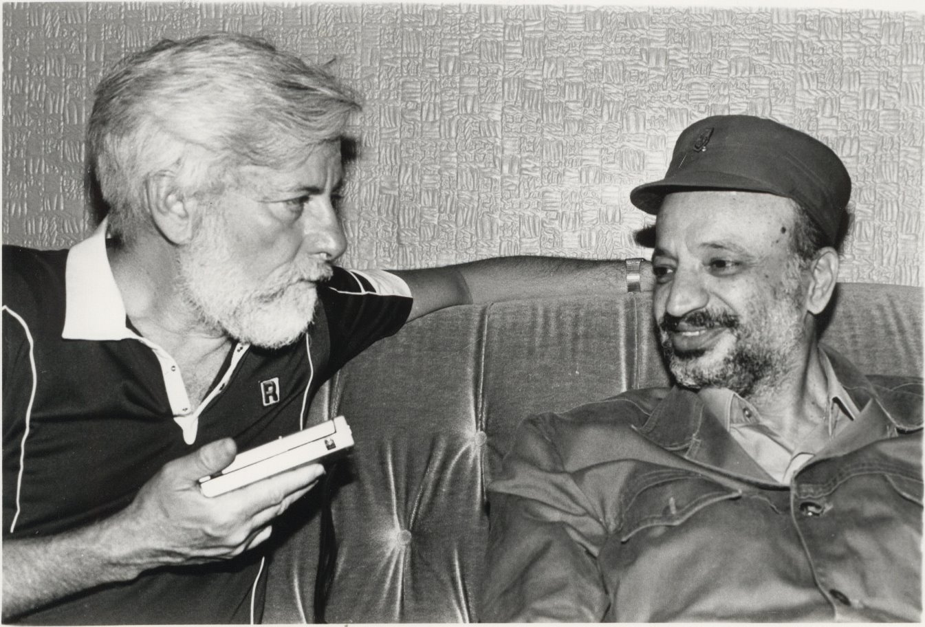 Meeting Arafat in Beirut during the siege, 1982