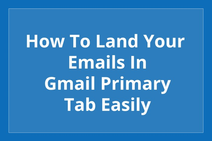 Gmail primary tab
